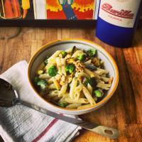 Penne rigate aux brocolis, courgettes et gorgonzola