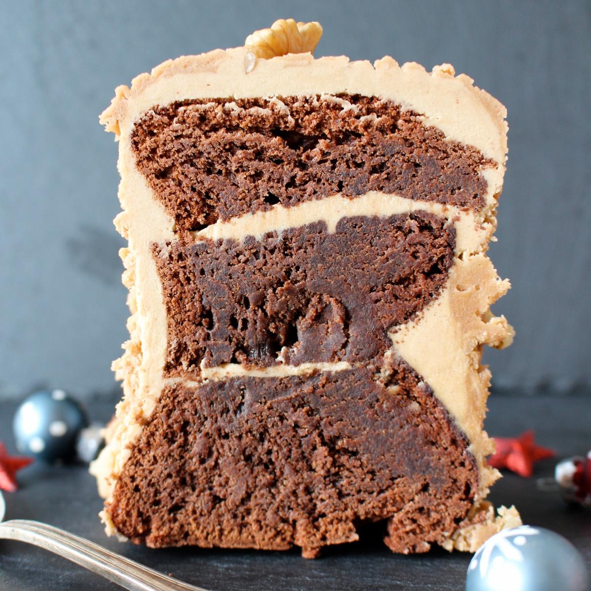 Bûche de Noël chocolat - café