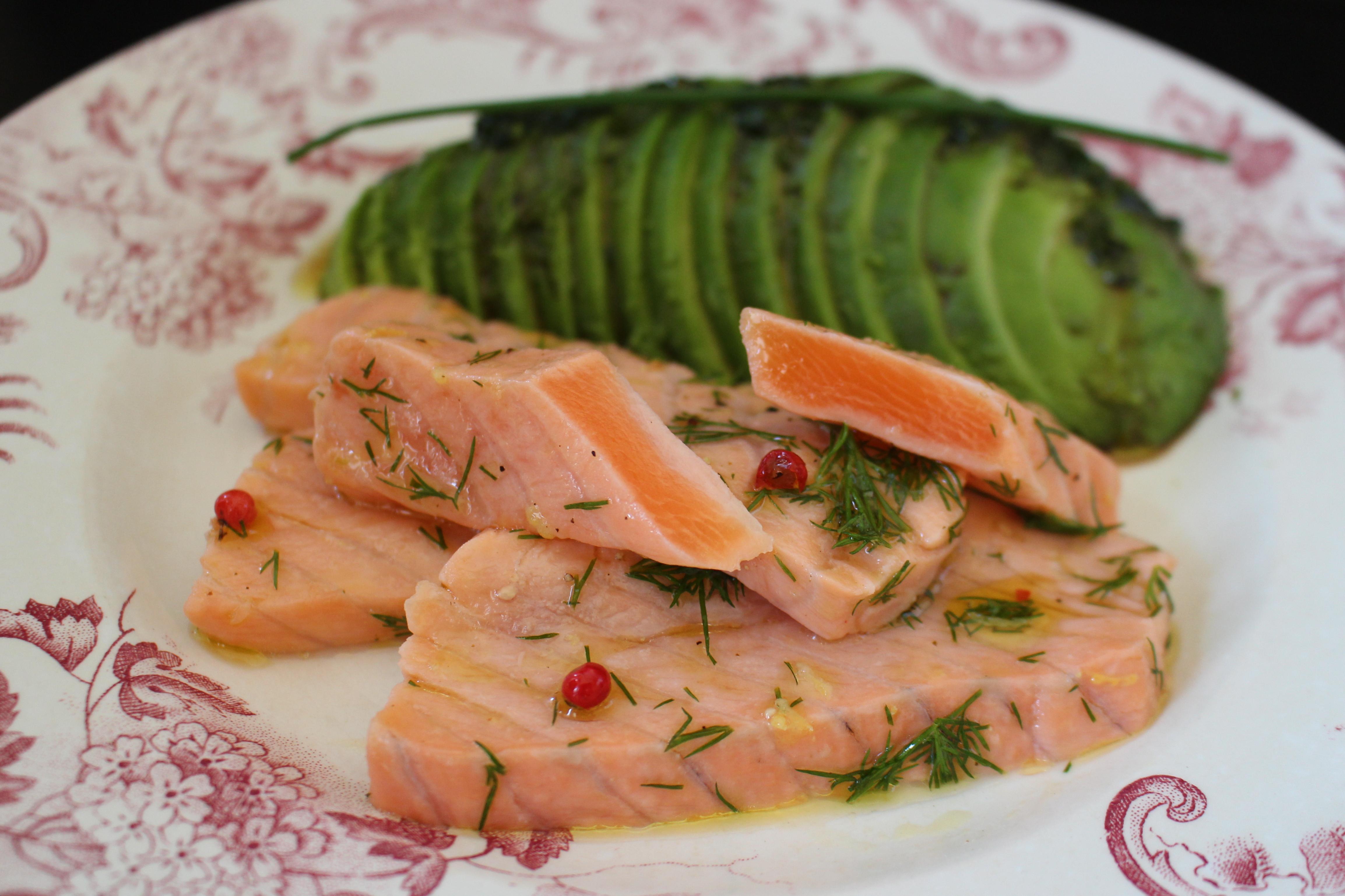 saumon mi-cuit au citron | tie & spoon